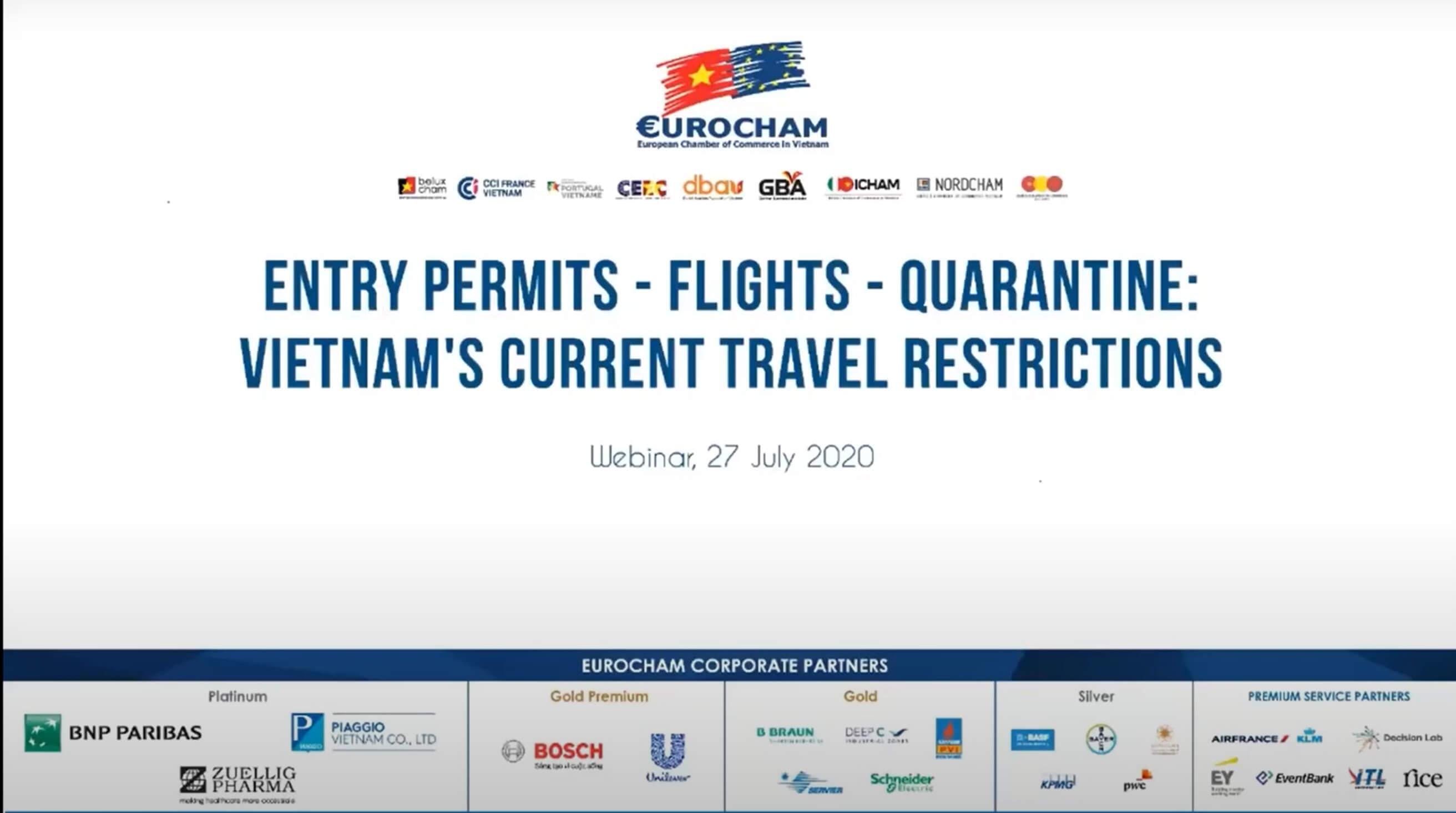 Webinar: EuroCham & Resident Vietnam on Current Travel Restrictions